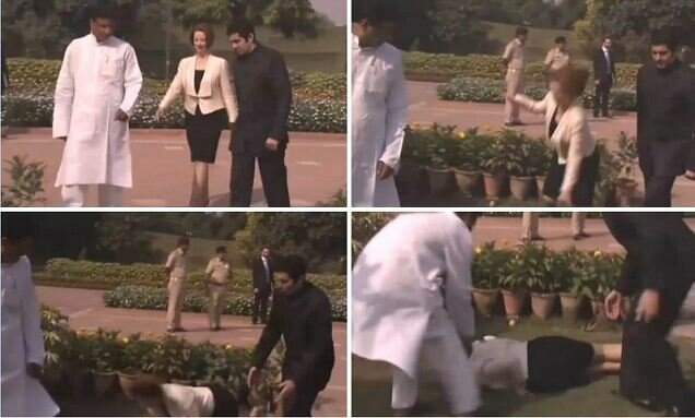 Julia-Gillard-brought-heel---Australian-PM-takes-tumble-laying-wreath-Gandhis-grave