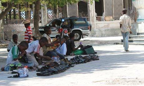 MDG : Young boys on the street of Mogadishu, Somalia