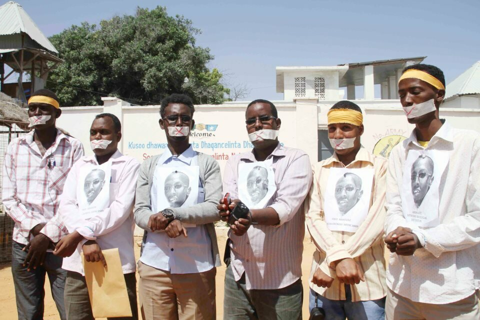 Somali Journalist protest