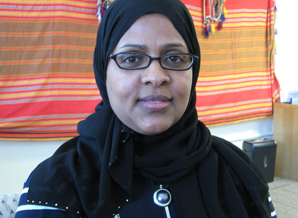 Fartun Weli is executive director of the Minnesota-based Somali advocacy group Isuroon, based in south Minneapolis. (MPR Photo/Lorna Benson)