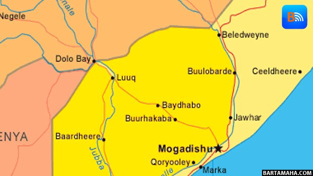 Somalia Map Bay