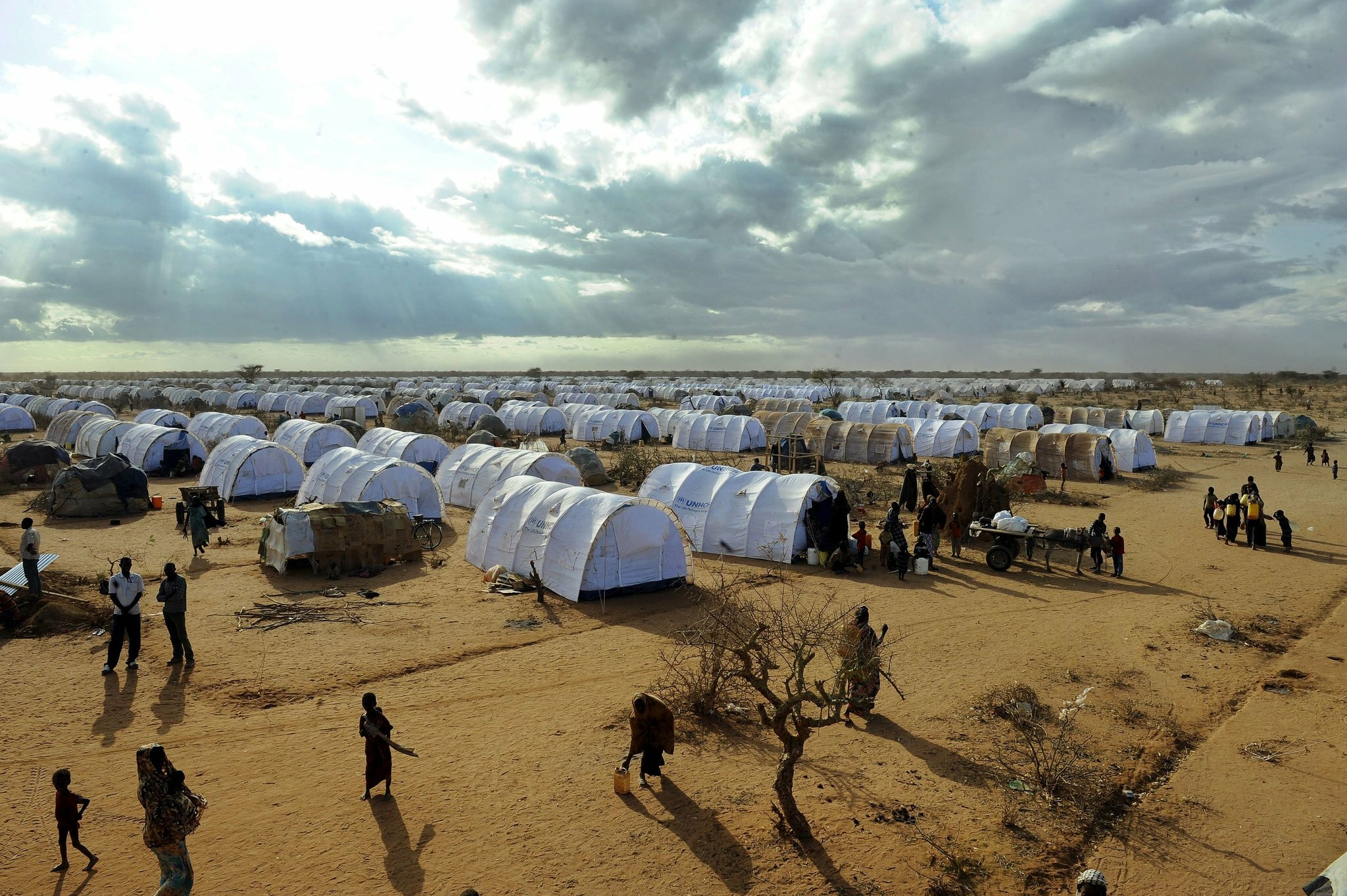The Dadaab refugee camp in Kenya near the Somali border, where an experiment in online education with two students using a Coursera program met with technological challenges, as well as cultural and linguistic ones. Credit Tony Karumba/Agence France-Presse — Getty Images