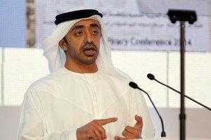 UAE's Foreign Minister Shaikh Abdullah bin Zayed Al Nahyan