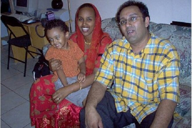 Slain nurse Zahra Abdille, with her son, Faris, and husband, Yusuf. COURTESY SONIA BERRY