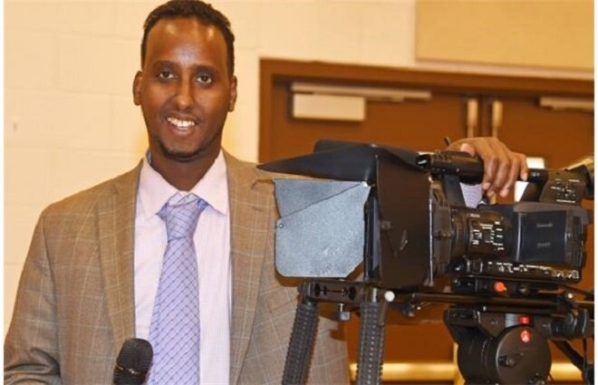 Jaamac is hosting a new television show called Somalis in Alberta which airs Sundays at 10:30 a.m. on Omni TV. Photograph by: Bruce Edwards, Edmonton Journal